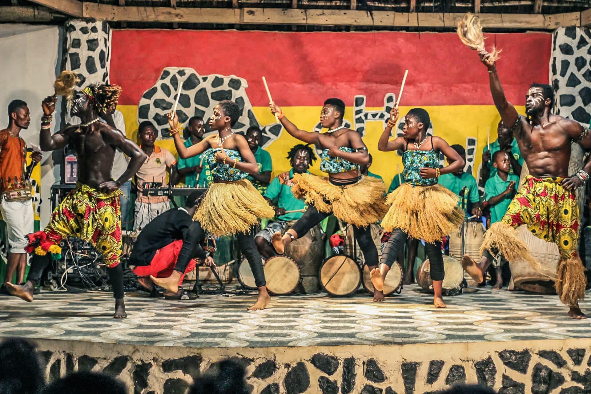 Cultural display in Ghana